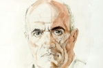 Colm Toibin watercolour