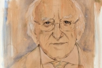 Michael D. Higgins drawing
