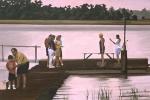 Figures on the dock