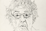 Paul Muldoon pen and ink